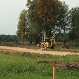 Началось строительство внутренних дорог